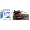 Free Template for printing ADR Transport Document