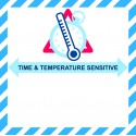 IATA TIME AND TEMPERATURE SENSITIVE LABEL