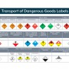 Transport of Dangerous Goods Labels Poster (A4 Landscape)